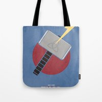 thor Tote Bags featuring Thor by Steal This Art