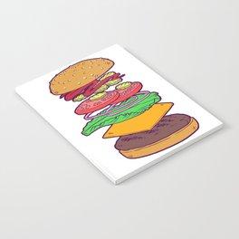 Vegan Burger Anatomy (No Words) Notebook