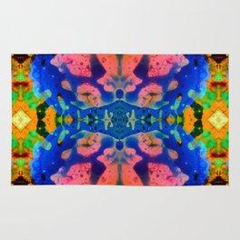 Psychedelic Pink Blue Fractal Rug