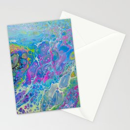 Acrylic Pour - Rainbow Paddle Pop Stationery Cards
