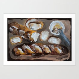 Baguette, french bread, du pain, food Art Print