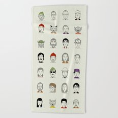 The Characters of W Beach Towel