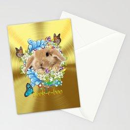 Peek A  Boo Bunny Stationery Cards