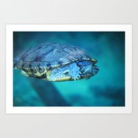 swim Art Prints featuring Swim by Call_me_maurice