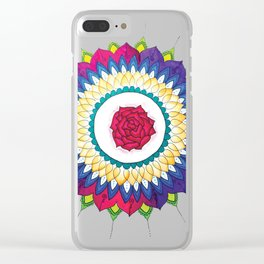 Rose Mandala Clear iPhone Case