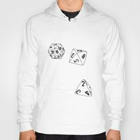dungeons and dragons Hoodies featuring Dungeons and Dragons Dice by mrcarter