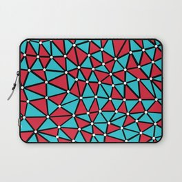 African Triangles Red and Blue Laptop Sleeve