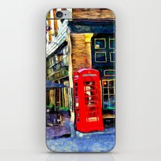 Red Phone Booth iPhone & iPod Skin