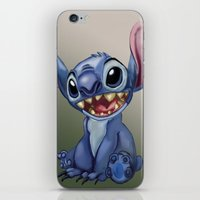 stitch iPhone & iPod Skins featuring Stitch by Joshua Norman