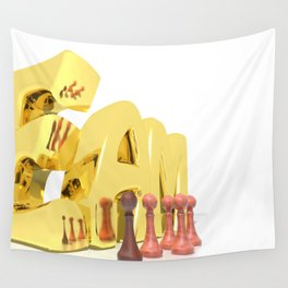 Team Gold Wall Tapestry