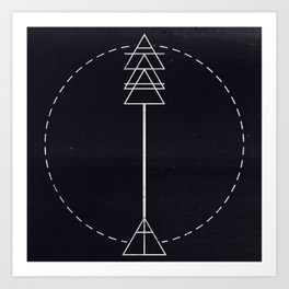 Arrow Glyph Art Print