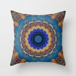 Very Bohemian Bright Mandala Throw Pillow