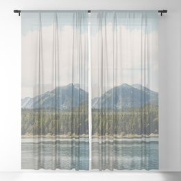 in the shadow of the Alps Garmisch photograph Sheer Curtain