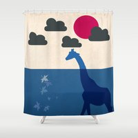africa Shower Curtains featuring Africa by Mehdi Elkorchi