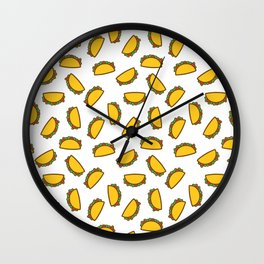 TACO TACOS MEXICAN FOOD PATTERN Wall Clock