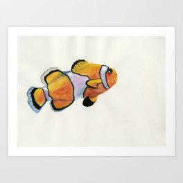 Lonely Clownfish Art Print
