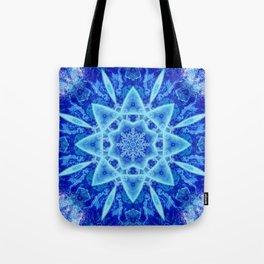 Ice Matrix Mandala Tote Bag