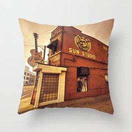 Sun Studios Memphis Throw Pillow
