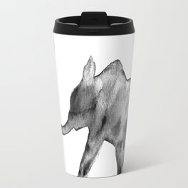 Happy Valentines, watercolor, elephant Travel Mug