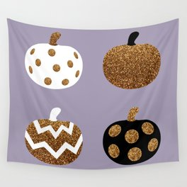 Pick a peck of purple pickled pumpkins Wall Tapestry