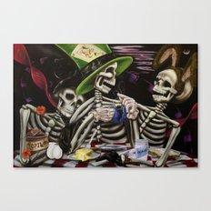 Skeleton Tea Party Canvas Print