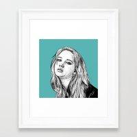 jennifer lawrence Framed Art Prints featuring Jennifer Lawrence by Sharin Yofitasari