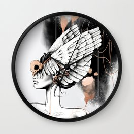 Bird of Minerva Wall Clock