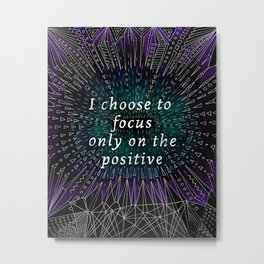 Positive affirmation, mindfulness quote, hand-drawn lettering, yoga art, yoga drawing, motivational  Metal Print