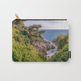 Yellow flowers on the seacoast of Cap Martin in a sunny winter day Carry-All Pouch