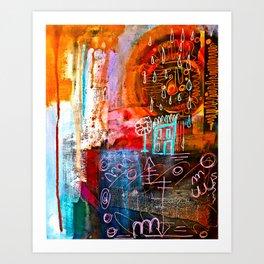 Solitary Sunshower Art Print