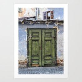 Old Door, Sibiu Art Print