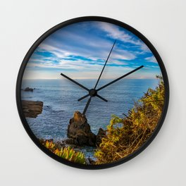 End of the Fence III Wall Clock