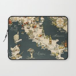 Gastronomic Map of Italy 1949 Laptop Sleeve