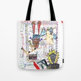 Crazy city map (collage) Tote Bag