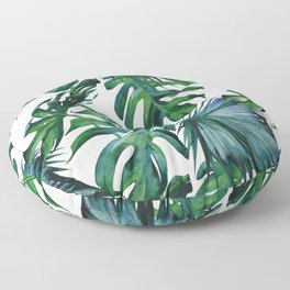 Tropical Palm Leaves Classic Floor Pillow