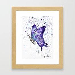 Lavender Butterfly Framed Art Print