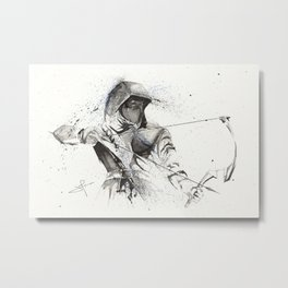 Dark Archer Splatter Art 2 Metal Print