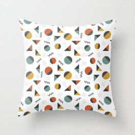 geometry slicing shapes Throw Pillow