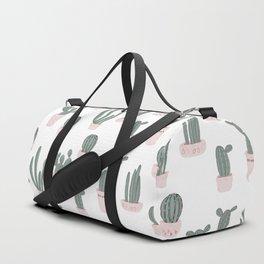 Elegant Cacti in Pots Pattern Duffle Bag