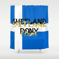 pony Shower Curtains featuring Shetland Pony by mailboxdisco