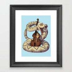 D is for Diamondback Rattlesnake, Western Framed Art Print