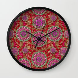 Hearts can also be flowers such as bleeding hearts pop art Wall Clock