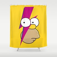 homer Shower Curtains featuring Homer Stardust by lapinette