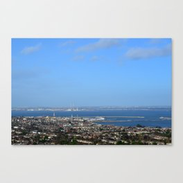 View of Dun Laoghaire and Dublin, Ireland Canvas Print
