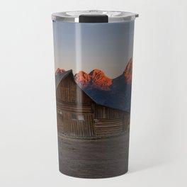 Moulton Barn - Sunrise in Grand Tetons Travel Mug
