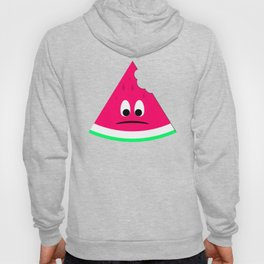 Cute sad bitten piece of watermelon Hoody