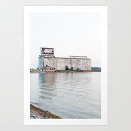 Grain Elevator at Sunset Art Print