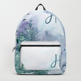 Watercolor Happy Holidays Winter Wonderland Backpack