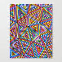triangle Canvas Prints featuring Triangle by Neon Wonderland
