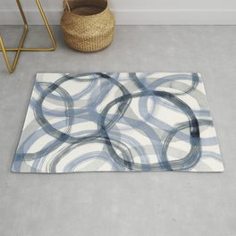 Blue Brush Rug